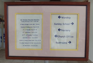 Sunday School Directory