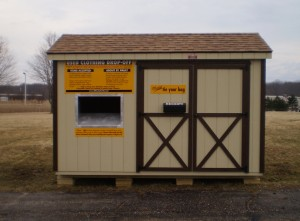 Clothing Drop-off Shed
