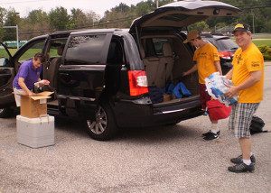 Packing the van - 3