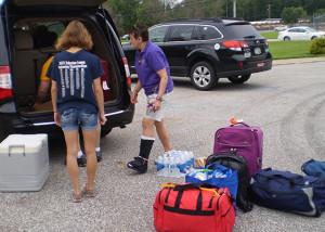 Packing the van - 8